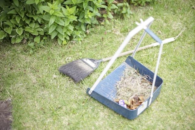 庭の掃除(片付け)